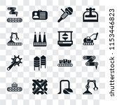 set of 16 transparent icons... | Shutterstock .eps vector #1153446823