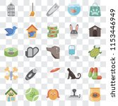 set of 25 transparent icons... | Shutterstock .eps vector #1153446949