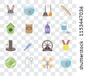 set of 16 transparent icons... | Shutterstock .eps vector #1153447036