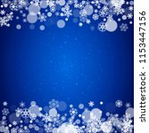 new year snowflakes on blue...   Shutterstock .eps vector #1153447156