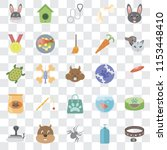 set of 25 transparent icons... | Shutterstock .eps vector #1153448410