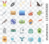 set of 25 transparent icons... | Shutterstock .eps vector #1153450300