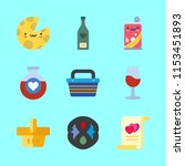 drink icons set. wineglass ... | Shutterstock .eps vector #1153451893
