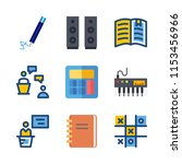 education icons set. notepad ... | Shutterstock .eps vector #1153456966