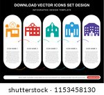 5 vector icons such as music ... | Shutterstock .eps vector #1153458130