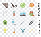 set of 16 transparent icons... | Shutterstock .eps vector #1153458376