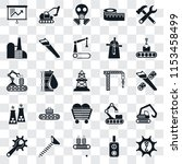 set of 25 transparent icons... | Shutterstock .eps vector #1153458499