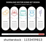 5 vector icons such as rainy ... | Shutterstock .eps vector #1153459813