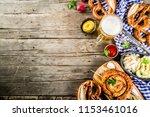 oktoberfest food menu  bavarian ... | Shutterstock . vector #1153461016