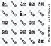 set of 25 transparent icons... | Shutterstock .eps vector #1153463206