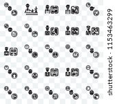 set of 25 transparent icons... | Shutterstock .eps vector #1153463299