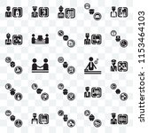 set of 25 transparent icons... | Shutterstock .eps vector #1153464103