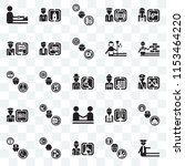 set of 25 transparent icons... | Shutterstock .eps vector #1153464220