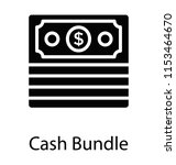 paper money in a bundle form... | Shutterstock .eps vector #1153464670