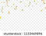 gold confetti isolated on... | Shutterstock .eps vector #1153469896