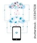 cloud computing | Shutterstock .eps vector #115347028