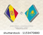 andorra vs kazakhstan  league d ...   Shutterstock .eps vector #1153470880