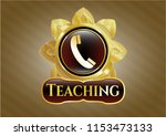gold emblem or badge with old...   Shutterstock .eps vector #1153473133