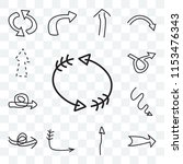 set of 13 transparent icons...   Shutterstock .eps vector #1153476343
