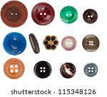 sewing buttons | Shutterstock . vector #115348126