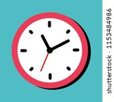 clock icon in flat style.... | Shutterstock .eps vector #1153484986