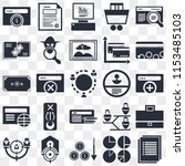 set of 25 icons such as list ...
