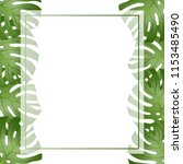 philodendron monstera leaf... | Shutterstock .eps vector #1153485490
