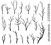 hand drawn set of twigs | Shutterstock .eps vector #1153503346