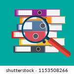 files  ring binders and and... | Shutterstock .eps vector #1153508266