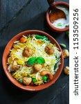 homemade soyabean   soy chunks... | Shutterstock . vector #1153509256