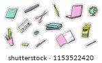 colorful cartoon school... | Shutterstock .eps vector #1153522420