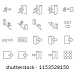 Set Of Exit Related Vector Line ...