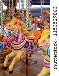 fairground carousel  ride   Shutterstock . vector #1153529863