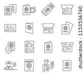 set of passport related vector... | Shutterstock .eps vector #1153536760