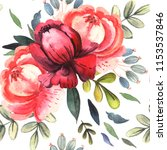 watercolor seamless of bright... | Shutterstock . vector #1153537846
