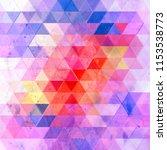 watercolor retro color abstract ... | Shutterstock . vector #1153538773