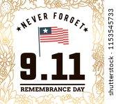 patriot day. 11th of september. ... | Shutterstock .eps vector #1153545733