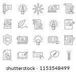 set of copywriting related... | Shutterstock .eps vector #1153548499