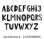 abstract stylish alphabet.... | Shutterstock .eps vector #1153548850
