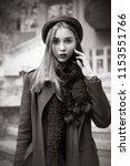 beautiful girl on the... | Shutterstock . vector #1153551766