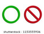3d allowed and forbidden signs  ... | Shutterstock .eps vector #1153555936
