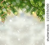 christmas greeting card with... | Shutterstock . vector #1153556500