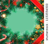 christmas greeting card with... | Shutterstock . vector #1153556503