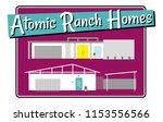 mid century modern houses ... | Shutterstock .eps vector #1153556566
