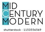 mid century modern typopgraphy  ... | Shutterstock .eps vector #1153556569