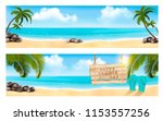 summer vacation panorama. two... | Shutterstock .eps vector #1153557256