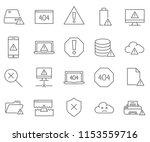 set of error related vector... | Shutterstock .eps vector #1153559716