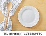 textile cell napkin om wooden...   Shutterstock . vector #1153569550