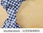 textile blue cell napkin om...   Shutterstock . vector #1153569853