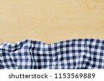 cell napkin on wooden table...   Shutterstock . vector #1153569889